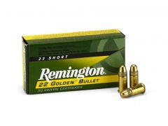 Remington .22 Short 29 Grain High-Velocity Plated LRN