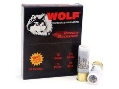 """1200B-WOLF Wolf Performance 12 Gauge 2.75"""" 9 Pellet 00 Buck Shot"""