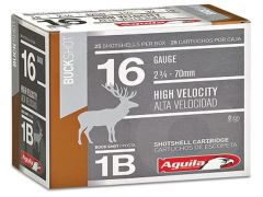 "1C1601BA Aguila High Velocity 16 Gauge 2.75"" 1-1/8 oz 1 Buck"
