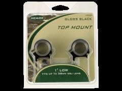 Weaver Mounts Top Mount, Weav 49050 1in Rings Hi  Detachable