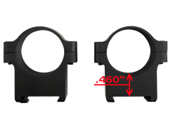 Cz Scope Rings, Cz 40010 Alum Scope Rings 1in  Cz550/557 Low Matte