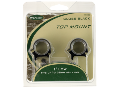 Weaver Mounts Top Mount, Weav 49040 1in Rings Low Detachable Mt