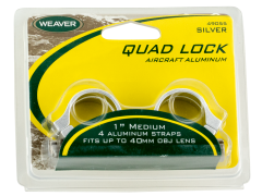 Weaver Mounts Quad Lock, Weav 49049 Rings Quad-lock 1in Xhi Mat