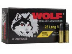 A22XTRA Wolf Match Extra 22 LR 40 Gr RN