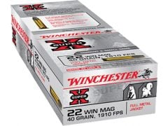 X22M-CASE Winchester Super-X 22 Mag 40 Grain FMJ (Case)