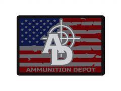 Ammunition Depot - Logo Flag Sticker