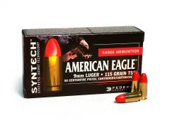 Federal American Eagle Syntech 9mm Luger 115 Grain TSJ