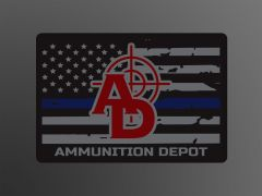 Ammunition Depot - Thin Blue Line Sticker