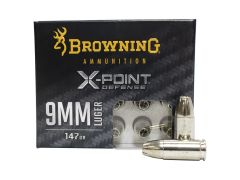 B191700092 Browning X-Point Defense 9mm 147 Grain Hollow Point