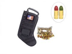 US Cartridge CleanBarrel 9mm 115 Gr Red & Green TPJ - 250 Rounds in Tactical Stocking (Black)