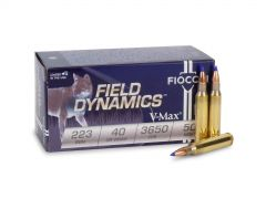 FIO223HVB50 Fiocchi Field Dynamics 223 Remington 50 Rounds 40 Grain V-Max Ammo