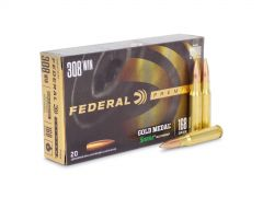 Federal Gold Medal Match 308 Winchester 168 Grain SMK BTHP (Box)