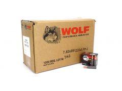 762WFMJ-CASE Wolf Performance 7.62x39 122 Grain Non-Corrosive FMJ (Case)