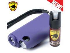 Guard Dog Olympian 3-in-1 Pepper Spray Stun Gun Flash Light - Purple
