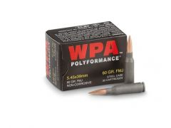 Wolf Polyformance 20 Rounds 5.45x39 60 Grain FMJ Ammo
