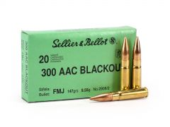Sellier & Bellot .300 Blackout 147 Grain FMJ