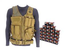 7.62X39-AD-TV-01-WFMJ500-TAN RTAC 7.62x39 Tactical Load Bearing Vest - Wolf 762WFMJ (Tan)