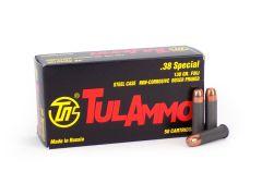 UL038130 TulAmmo 38 Special 50 Rounds 130 Grain FMJ Ammo