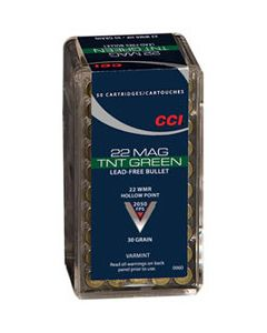 CCI TNT Green .22 WMR 30 Gr HP
