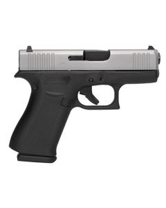 "Glock 43X 9mm 3.41"" Fixed 10+1 Black/Silver"