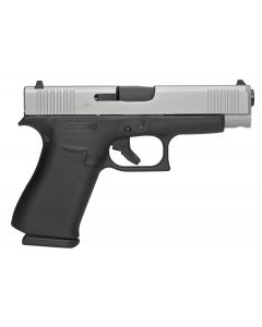 "Glock G48 9mm 4.17"" Fixed 10+1 Black/Silver"