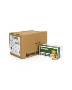 Remington UMC 9mm 115 Gr FMJ - 600 Round Case