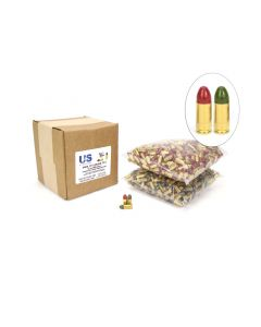 US Cartridge CleanBarrel™ 9mm 115 Gr Red & Green TPJ (Bulk)