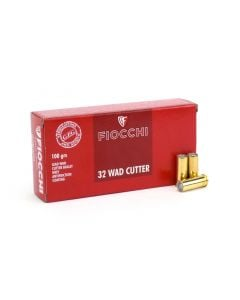 Fiocchi .32 S&W Long 100 Grain Wad Cutter