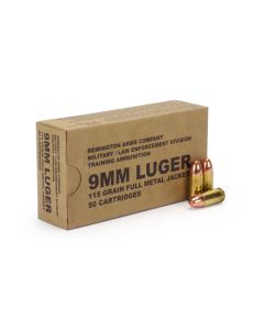 Remington Military/LE Overrun 9mm 115 Gr FMJ