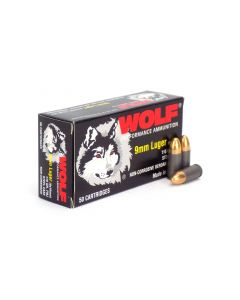 Wolf Polyformance 9mm 115 Gr FMJ (Box)