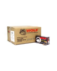 Wolf Polyformance 9mm 115 Gr FMJ (Case)