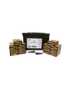 Federal 5.56 NATO 62 Grain XM855 Green Tip FMJ - 420 Rounds in Ammo Can on Stripper Clips