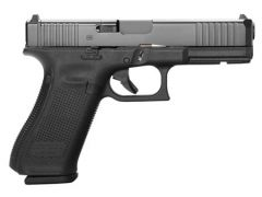 "Glock G17 Gen 5 MOS Front Serrations 9mm 4.49"" 17+1 Black nDLC Black"