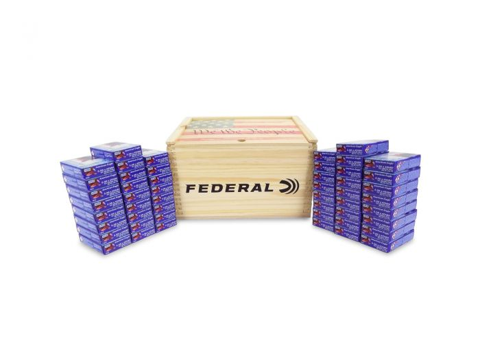 Federal 5 56 NATO XM193 55 Gr FMJ in ''We The People'' Crate - 1000 Rounds